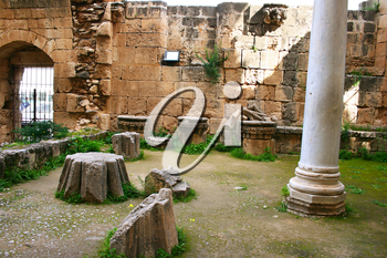 Royalty Free Photo of the Historic Bellapais Abbey in Kyrenia, Northern Cyprus