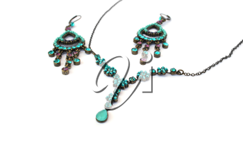 Royalty Free Photo of a Necklace and Earrings