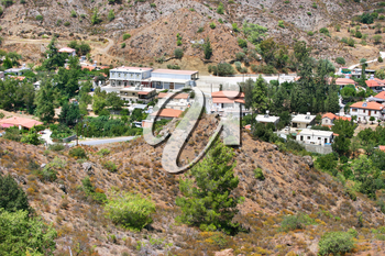 Royalty Free Photo of a Village in the Cyprus Mountains