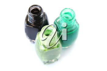 Royalty Free Photo of Bottles of Nail Polish