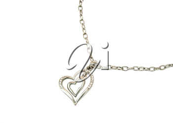 Royalty Free Photo of a Heart Necklace