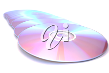 Royalty Free Photo of Compact Discs