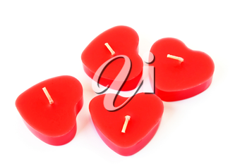 Royalty Free Photo of Heart Shaped Candles