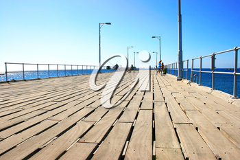 Royalty Free Photo of a Pier in Cyprus