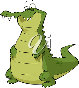 Royalty Free Clipart Image of a Caiman