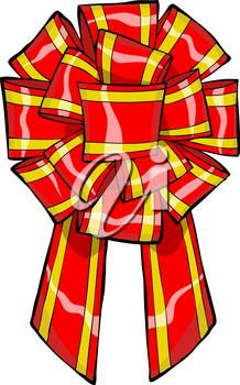 Royalty Free Clipart Image of a Gift Bow