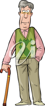 Royalty Free Clipart Image of an Elderly Man