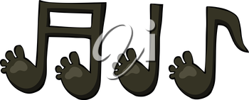 Royalty Free Clipart Image of a Set of Music Notes