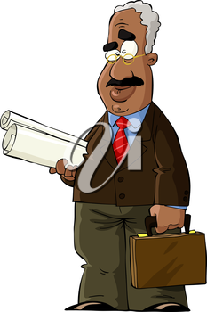 Royalty Free Clipart Image of a Professor