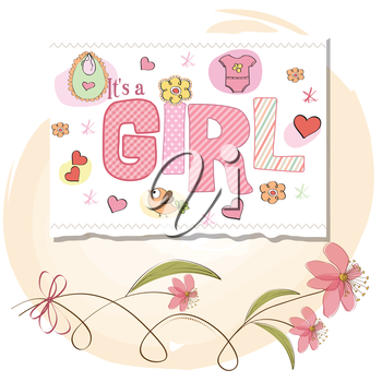 Royalty Free Clipart Image of a Baby Girl Background
