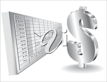 financial background with dollar