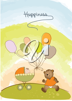 baby shower and announcement card