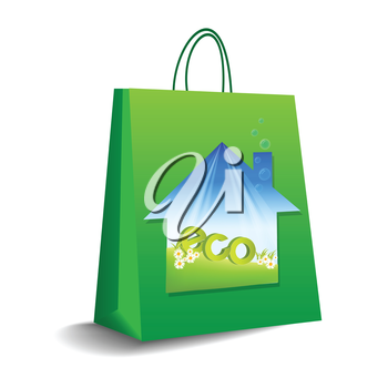 shopping bag in vector format
