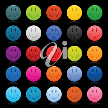 Royalty Free Clipart Image of Smiley Face Icons
