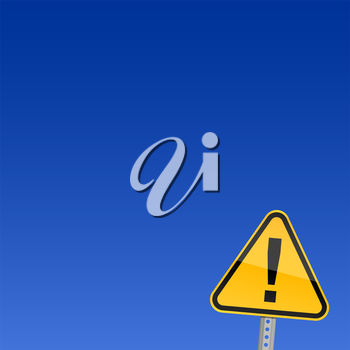 Royalty Free Clipart Image of an Attention Sign