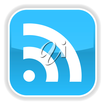 Royalty Free Clipart Image of an RSS Feed Icon