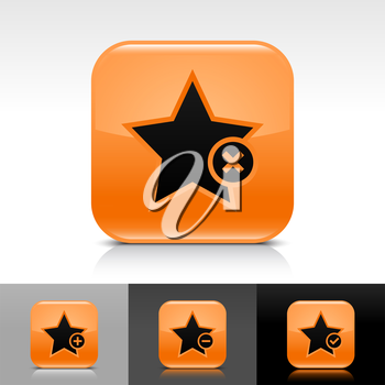 Royalty Free Clipart Image of a Set of Star Icons