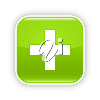Royalty Free Clipart Image of a Cross Icon