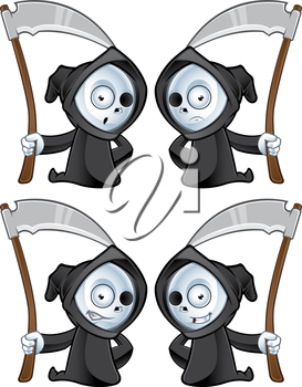 Royalty Free Clipart Image of Grim Reapers