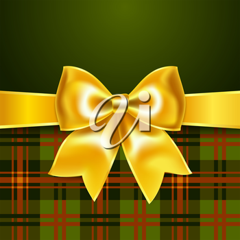 Background with yellow ribbon bow, 10eps. Perfect as invitation or congratulation.