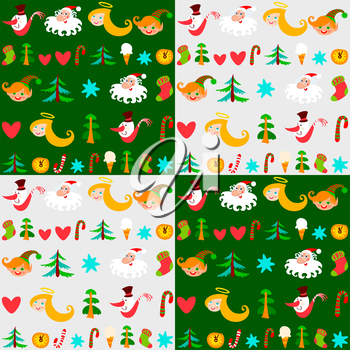 Christmas background, New Year's wallpapers set. Can be use at your Christmas card design