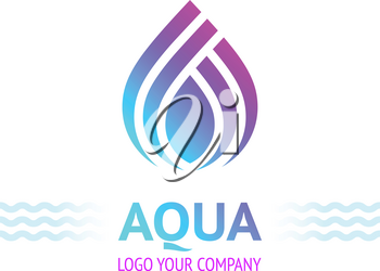 Water drop symbol, logo template icon for your design, vector illustration