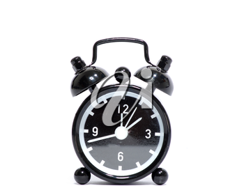 Royalty Free Photo of a Black Alarm Clock