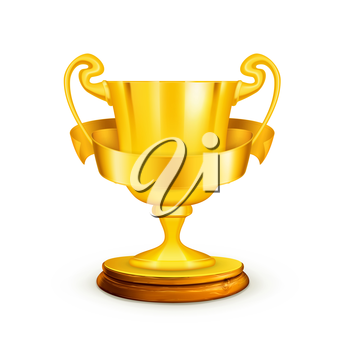 Gold trophy, vector