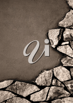 wall and stones as a background