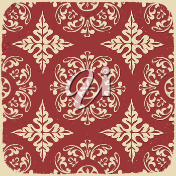 Vintage grungy pattern. Vector background, EPS10.