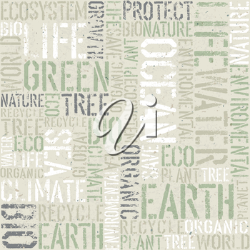 Ecology themed seamless pattern, vector, EPS10