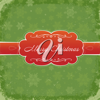 Merry Christmas Grunge Invitation Background. Vector, Eps8.
