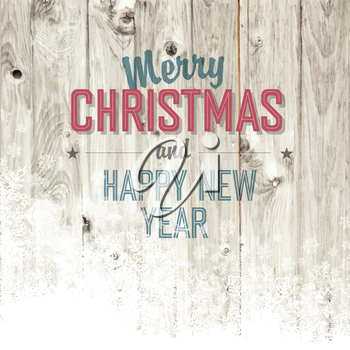 Merry Christmas Design Template With Isolated Side