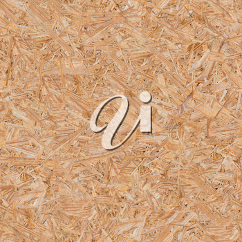 Pressed Wooden Panel (OSB). Seamless Tileable Texture.