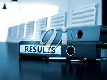 Results - Business Concept on Toned Background. Results - Business Concept. Results. Business Illustration on Toned Background. 3D Render.
