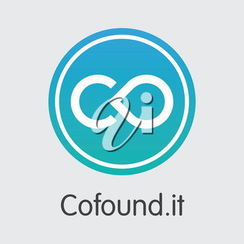Cofoundit Vector Coin Image for Internet Money. Cryptocurrency Web Icon of CFI and Sign Icon for using in Web Projects or Mobile Applications.