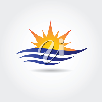 Royalty Free Clipart Image of a Sun Symbol