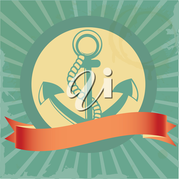 Vintage background with anchor