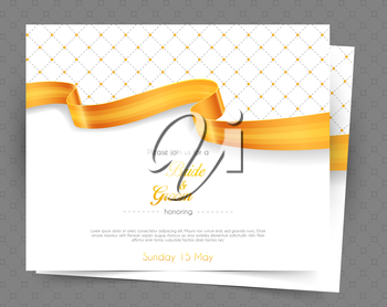 Vector illustration of Wedding invitation
