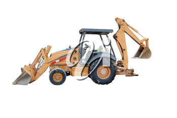 Royalty Free Photo of a Backhoe