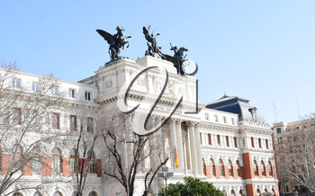 MADRID-SPAIN-FEB 19, 2019: The Ministry of Agriculture, Fisheries and Food also known as MAPAMA is a ministerial department of the Government of Spain.