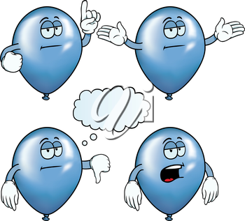 Royalty Free Clipart Image of a Bored Balloons