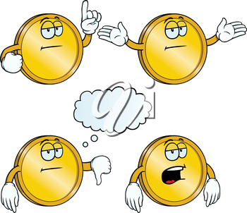 Royalty Free Clipart Image of a Collection of Coins