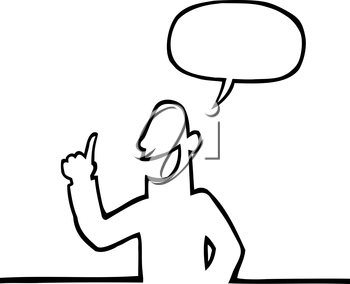 Royalty Free Clipart Image of a Person Explaining Something