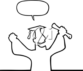Royalty Free Clipart Image of a Male Graduating