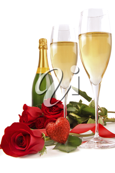 Royalty Free Photo of Champagne and Roses