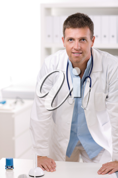 Portrait of medical professional at doctors room.