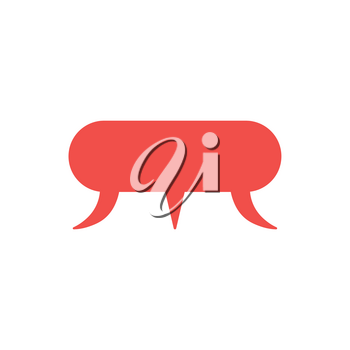 Flat design style vector illustration concept of red three speech bubbles in a speech bubble icon in three different directions on white background.