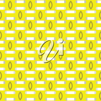 Vector seamless pattern texture background with geometric shapes, colored in yellow, grey and white colors.