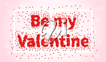 Be My Valentine. Happy valentines day and weeding element couples love. Cardboard greeting card design for Valentines Day. Be my Valentine text of hearts on pink background. Be my vector illustration